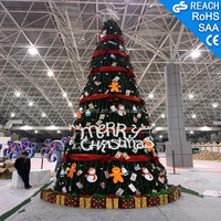 30m Large Giant PVC Christmas Tree Outdoor Artificial Christmas Tree with LED Light