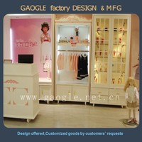 wooden Pretty baby shop display case for children's clothing store
