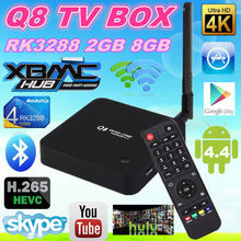 High Quality Q8 Tv Box Q8 H.265, 2GB/8GB, Bluetooth 4.4 decoder box cable tv