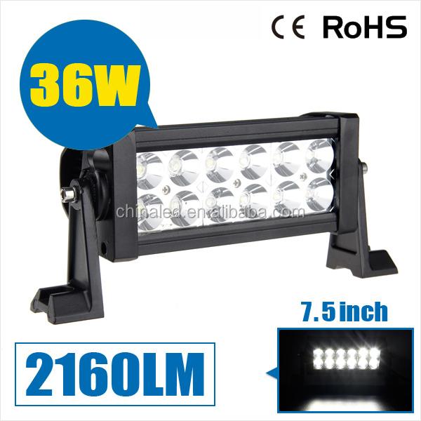 Super bright work light 2160LM 10~30V headlight offroad light 36W led work light bar for Jeep