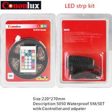 Hot sale flexible LED strip kit 5m/set for outdoor & indoor application