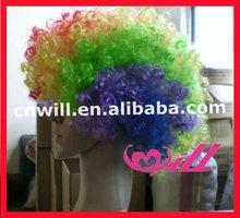 Wholesale 2014 Sport Fan Wigs Afro Curl Wigs Crazy Color Wigs