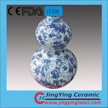 Exquisite design floral scene handpainted ceramic vase for good sale