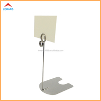 Exquisite Stainless Steel Metal POP Sign Clip Holder for Supermarket