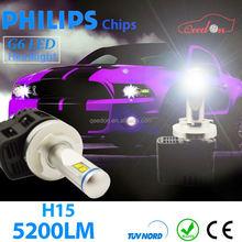 Qeedon newest 10-watt t6 led headlights high power car headlight h8 zoom