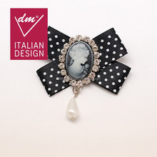 Hot sale Diana bow brooches and pins hijab
