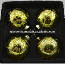 2015 nice looking muticolor artificual shatterproof gift box pack family love vintage plain Christmas tree decoration glass ball