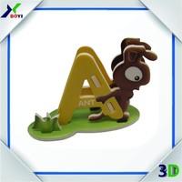 3D English alphabet jigsaw EPS puzzle,educational toys for kids