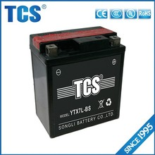 2014 hot sell TCS YTX7L 12v 7ah 12 volt dry battery for motorcycle