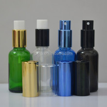 cobalt blue glass material spray bottle 8 oz with mist spray & cardboard box package
