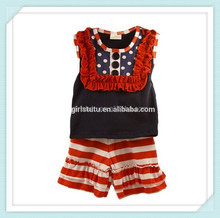 Baby Girls Pattriotic 4th of July Set Red White &Blue Boutique Short Set Little Girl Clothes Toddler Girl Clothes Boutique Sets