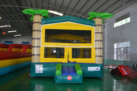 Classic Palm Tree Inflatable Jumping Jumper Bouncy Bouncer Castle House For Kids