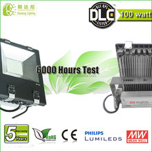 90lm per watt 100w led flood lights PHILIPS LED inside 5 year wrranty 100w led light fixture with copper tube