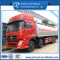 Dongfeng chemical tanker truck 38m3 capacity for flammable liquid transportation