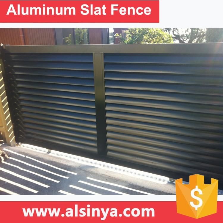 new style aluminum slat fence for courtyard guarding wi
