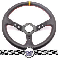 350mm Deep Corn Carbon Fiber Steering Wheel