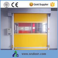 automatic high speed garage door/industrial stacked rapid door/fast interior folding door