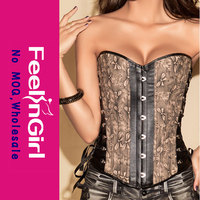 2014 wholesale steel boning grey overbust women hot sex corset xxl