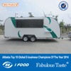 2015 hot sales best quality double-layer stainless steel food trailer food trailer on street running customized food trailer