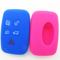 Cool design remote control car key cover silicone rubber car key shell for land rover