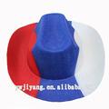 partido de fieltro sombrero de vaquero rojo azul blanco sombrero