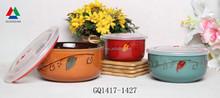 Colorful ceramic bowl set ceramic fresh bowl for sale