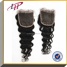 Hot Sale 6A Human virgin Brazilian Hair Lace Closure 4*4 Deep Wave