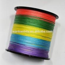Spectra de colores caliente la venta al por mayor precio material del PE trenzada línea de pesca