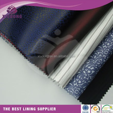 100%polyester jacquard lining fabric printed lining sleeve lining pocket fabric for garment