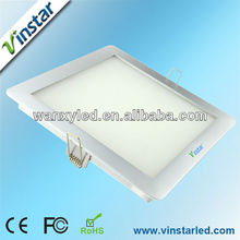 high luminous 3 years warranty trimless downlight led square
