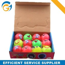 Cheap Spiky Rubber Ball for Kid Display Box Packing
