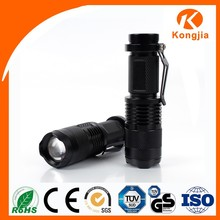 Mini Aluminum Alloy Flashlight Rechargeable Torch Light Portable Maglite Torch
