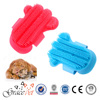 Wholesale Pet Shower Tools Palm Shaped Hair Brush Rubber Dog Bath Brush