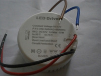 Round 12W 12v led driver constant voltage output for ceiling lamp, strips