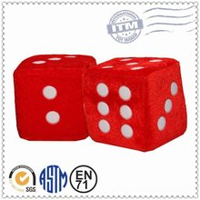 Customized OEM New Product plush toy dice