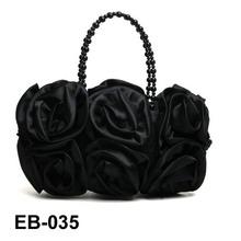 Satin Flower handbag evening bag party bag for ladies