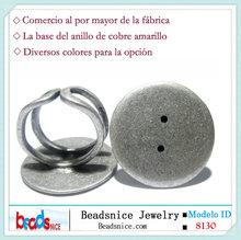 ID Beadsnice 8130 Best seller espacios en blanco del anillo de cobre amarillo 25mm ronda base del anillo ajustable