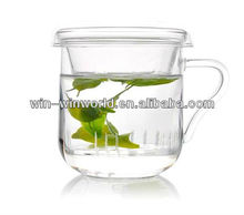 Cheap Drinking Cup Glass Three Parts With Tea Infuser Teapot