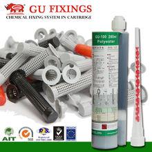 Chemical anchor kit concrete polyester resin glue