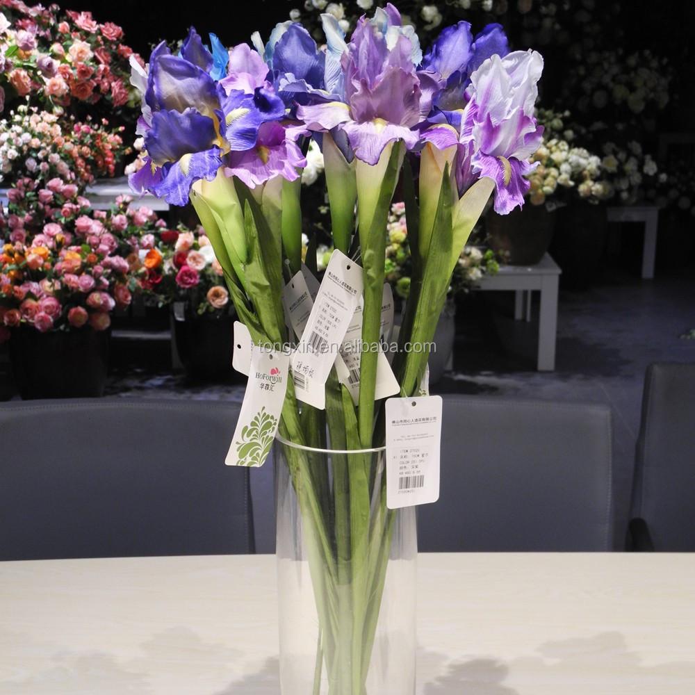 Sell Wedding Decor Wholesale Cheap Iris Artificial Silk Flower Buy