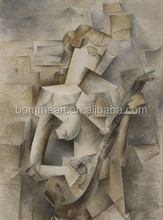 Free Shipping Abstract Picasso Oil Painting On Canvas Modern Famous Picture Decoration For Home