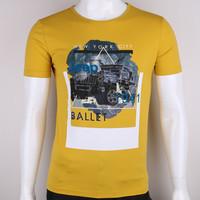 2015 new fashion printing mens short sleeve cotton spandex t shirt