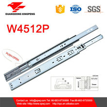 W4512P 3-Fold 45mm drawer slide cabinet hardware with push-open device