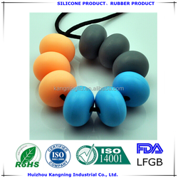 Fancy soft safety silicone pendant for baby chewing