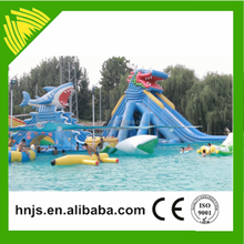 Zhengzhou Jinshan band top sale amusement rides castle inflatable water slide