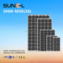 50W mono solar panels for 12V DC battery lighting with CE ISO TUV