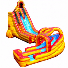 inflatable dry wet slide fire / inflatable giant fire water slide beach