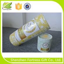 Skin care cardboard cosmetic paper tube with tray