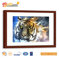 Wholesale Custom Wall Painting Canvas Animal Glass Hanging Pictures
