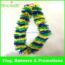 wholesale customized colorful 100% polyester hawaii flower lei petals flower necklace